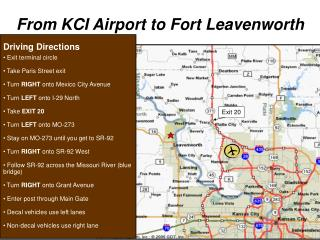 From KCI Airport to Fort Leavenworth