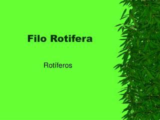 Filo Rotifera