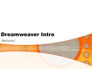Dreamweaver Intro