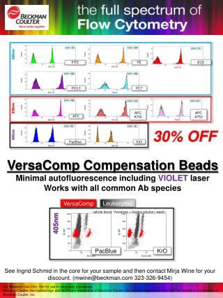VersaComp Compensation Beads Minimal  autofluorescence  including  VIOLET  laser