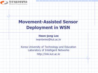 Movement-Assisted Sensor Deployment in WSN