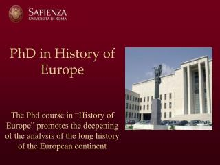History of Modern and Contemporary Europe History of Eastern Europe and Eurasia
