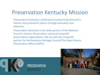 Preservation Kentucky Mission