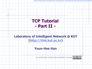 TCP Tutorial - Part II -