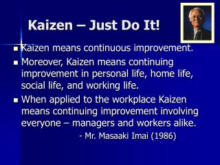 Kaizen – Just Do It!