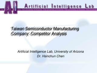 Taiwan Semiconductor Manufacturing Company: Competitor Analysis