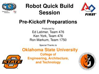 Robot Quick Build Session