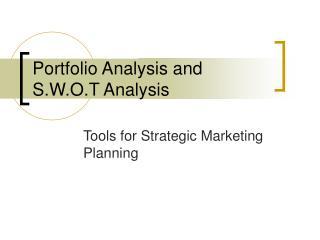 Portfolio Analysis and S.W.O.T Analysis