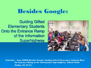 Guiding Gifted Elementary Students Onto the Entrance Ramp of the Information Superhighway
