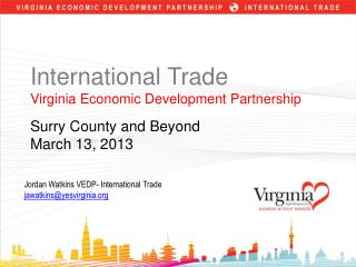 International Trade Virginia Economic Development Partnership