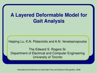 A Layered Deformable Model for Gait Analysis