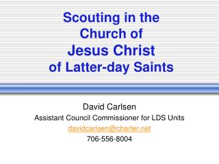 Scouting in the  Church of  Jesus Christ of Latter-day Saints