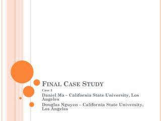 Final Case Study
