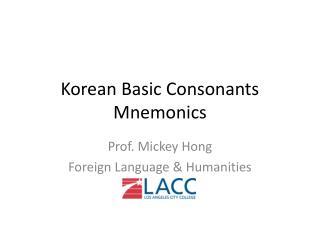 Korean Basic Consonants Mnemonics