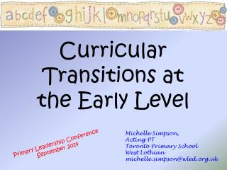 Curricular Transitions at the Early Level