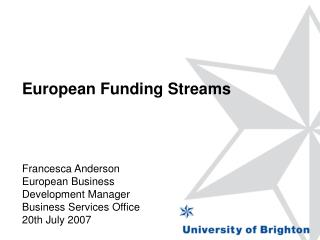 European Funding Streams