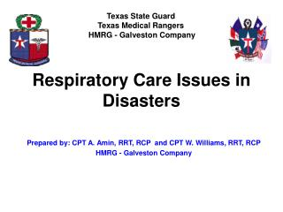 Respiratory Care Issues in Disasters