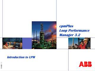 cpmPlus  Loop Performance Manager 3.2