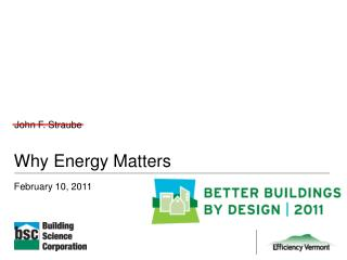 Why Energy Matters