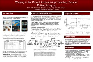Walking in the Crowd: Anonymizing Trajectory Data for Pattern Analysis