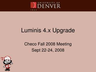 Luminis 4.x Upgrade