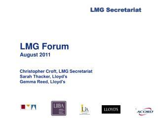 LMG Forum August 2011