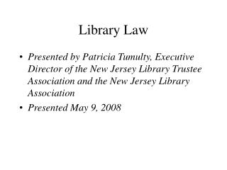 Library Law