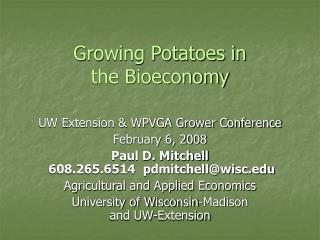 Growing Potatoes in  the Bioeconomy