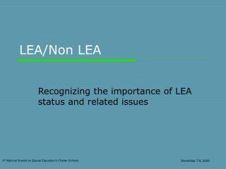LEA/Non LEA