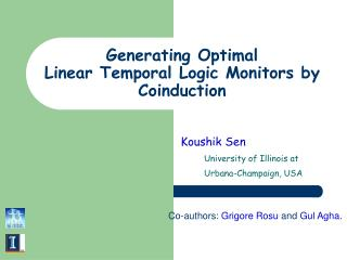 Generating Optimal  Linear Temporal Logic Monitors by Coinduction