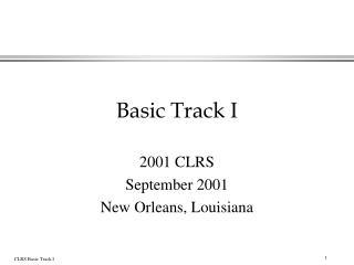Basic Track I