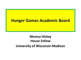 Hunger Games Academic Board