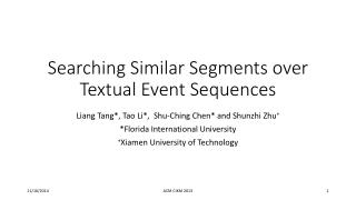 Searching Similar Segments over Textual Event Sequences