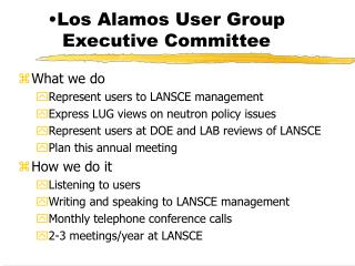 Los Alamos User Group Executive Committee