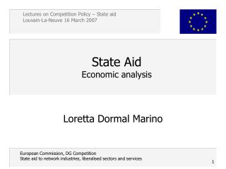State Aid  Economic analysis