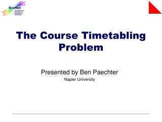The Course Timetabling Problem