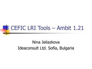 CEFIC LRI Tools – Ambit 1.21