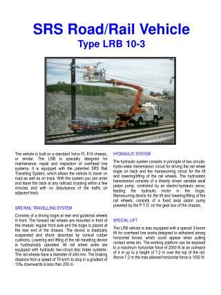 SRS Road/Rail Vehicle Type LRB 10-3