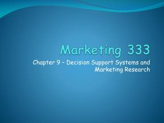 Marketing 333