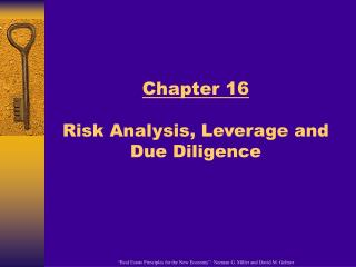 Chapter 16 Risk Analysis, Leverage and Due Diligence