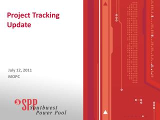 Project Tracking Update