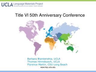 Title VI 50th Anniversary Conference