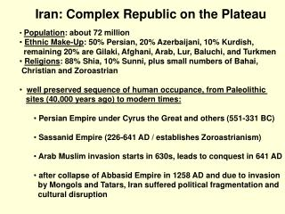 Iran: Complex Republic on the Plateau