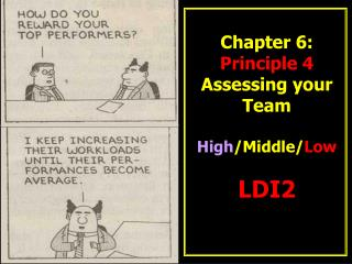Chapter 6:   Principle 4 Assessing your Team High /Middle/ Low LDI2