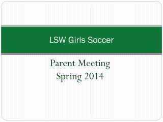 LSW Girls Soccer
