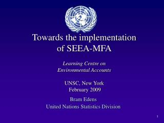 Bram Edens United Nations Statistics Division
