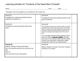 01 Contents Activity Instruction Sheet