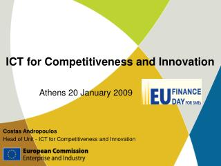 ICT for Competitiveness and Innovation