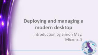 Deploying and managing a modern desktop