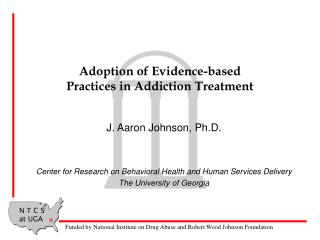 Adoption of Evidence-based Practices in Addiction Treatment